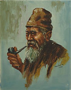 Unnamed of Western-Style Pipe Smoker by Y.W. Leung