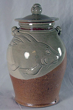Fish Crock with Lid - Oliver Peter-Contesse