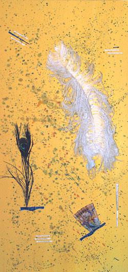 Yellow Feather by Laurie Miller